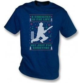 A Cricketer Is For Life, Not Just For Christmas Kids T-Shirt