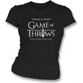 A Song of Ice and Fire 'Game of Throws' Women's Slimfit T-shirt