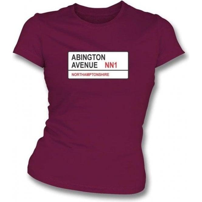 Abington Avenue NN1 Women's Slim Fit T-shirt (Northamptonshire)