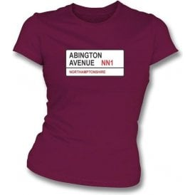 Abington Avenue NN1 Women's Slim Fit T-shirt (Northamptonshire)