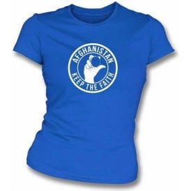 Afghanistan Keep The Faith Women's Slimfit T-shirt