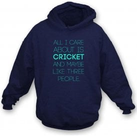 All I Care About Is Cricket Kids Hooded Sweatshirt