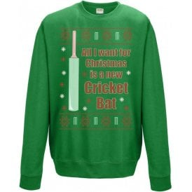 All I Want For Christmas Is A New Cricket Bat Jumper