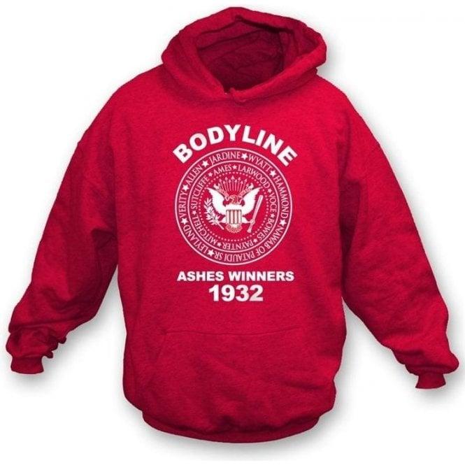 Ashes 1932 Bodyline(Ramones Style) Hooded Sweatshirt