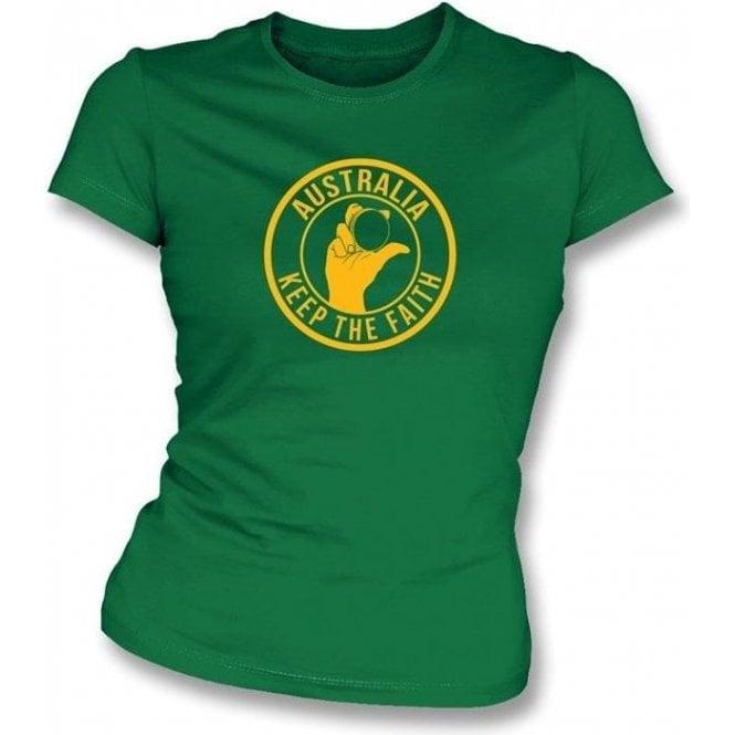 Australia Keep The Faith Women's Slimfit T-shirt