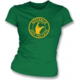 Australia Keep The Faith Women's Slimfit T-shirt