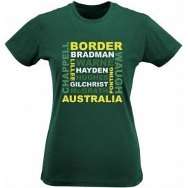 Australia World Cup Legends Womens Slim Fit T-Shirt