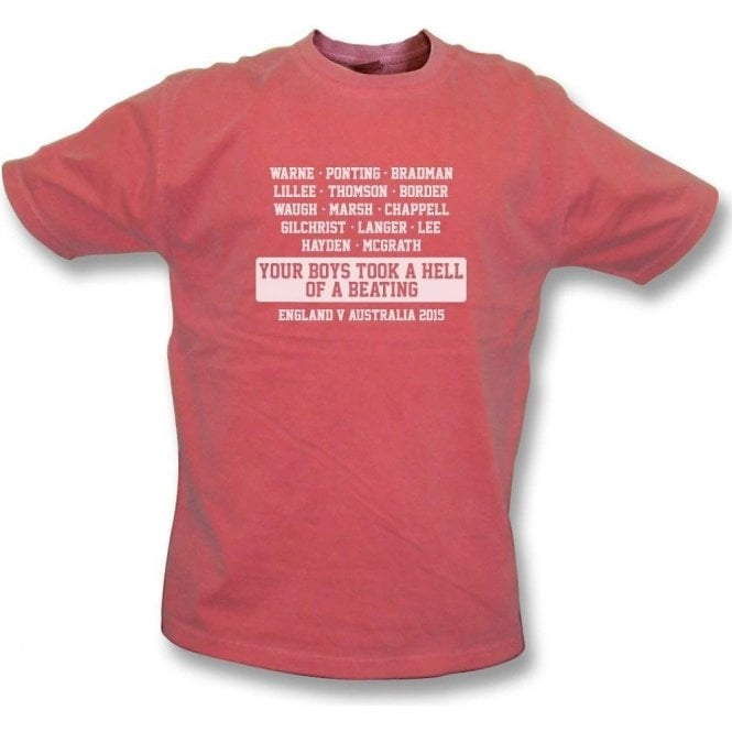 Australia: Your Boys Took A Hell Of A Beating (Ashes 2015) Vintage Wash T-Shirt