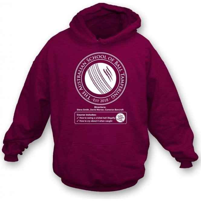 Australian School Of Ball Tampering Hooded Sweatshirt