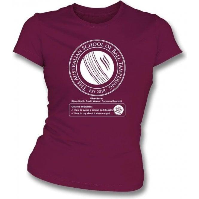 Australian School Of Ball Tampering Womens Slim Fit T-Shirt