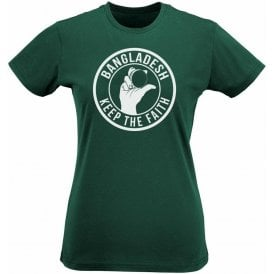 Bangladesh Keep The Faith Women's Slimfit T-shirt
