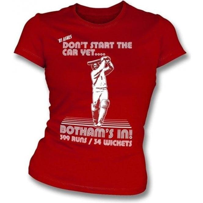 Beefy Botham 1981 Womens Slim Fit T-Shirt