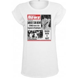Ben Stokes Daily News Womens Extended Shoulder T-Shirt