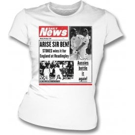 Ben Stokes Daily News Womens Slim Fit T-Shirt