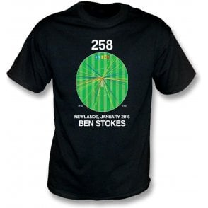 Ben Stokes Innings - 258 Wagon Wheel T-Shirt