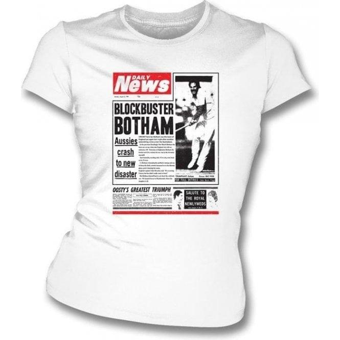 Blockbuster Botham 1981 Womens Slim Fit T-Shirt