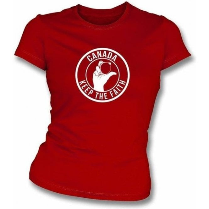 Canada Keep The Faith Women's Slimfit T-shirt