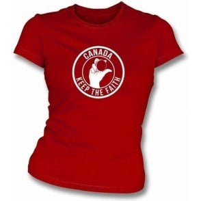 Canada Keep The Faith Women's Slimfit T-shirt