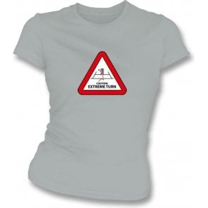 Caution: Extreme Turn Women's Slim Fit T-shirt