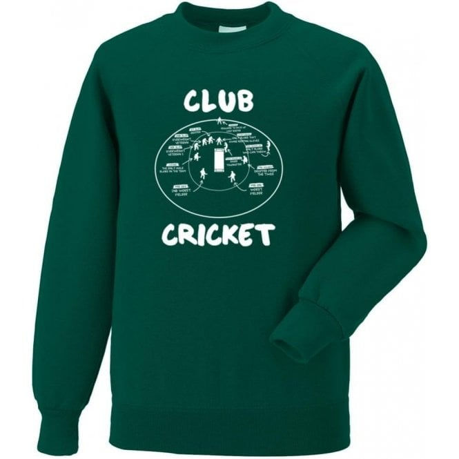 Club Cricket (Fielding Positions) Sweatshirt