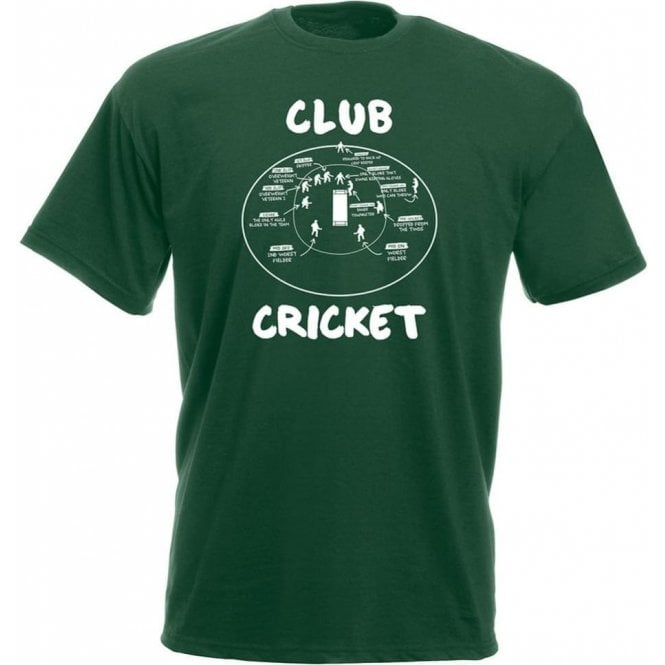 Club Cricket (Fielding Positions) T-Shirt