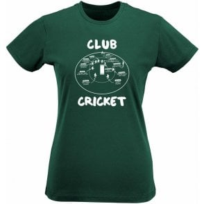 Club Cricket (Fielding Positions) Womens Slim Fit T-Shirt
