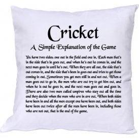 Cricket - A Simple Explanation Cushion