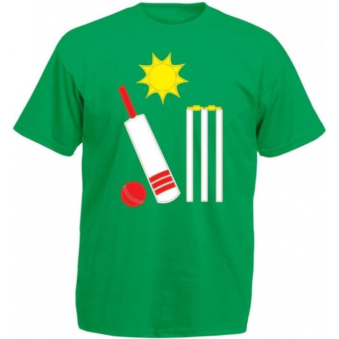 Cricket Bat & Ball Kids T-Shirt