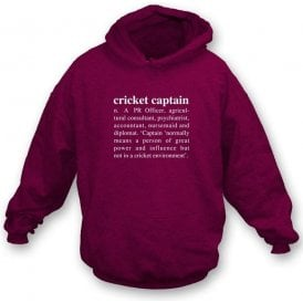 Cricket Captain Definition Hooded Sweatshirt