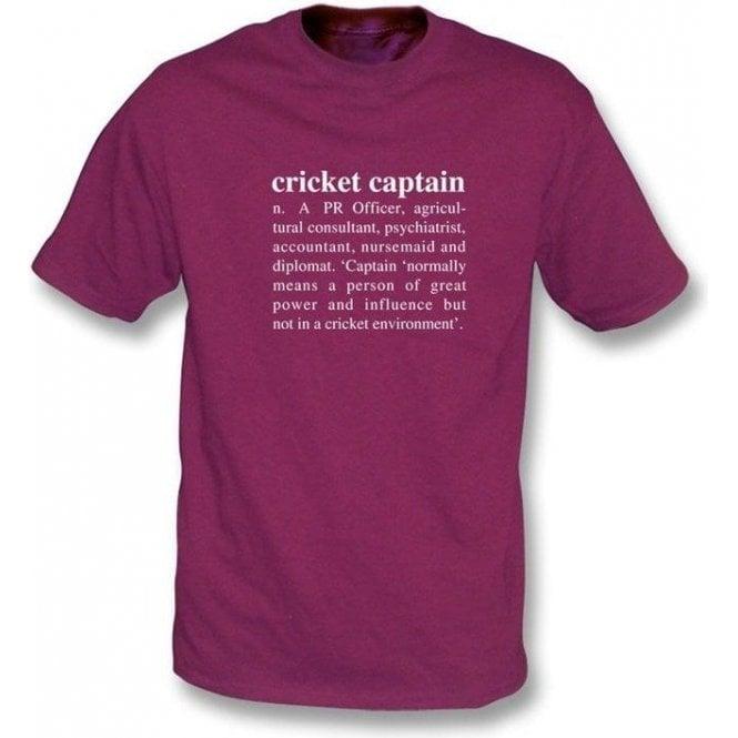 Cricket Captain Definition T-shirt