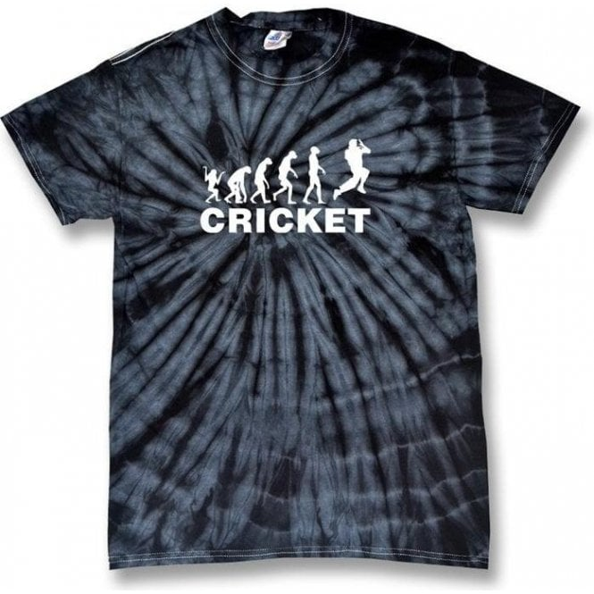 Cricket Evolution Bowler Kid's Tie Dye T-Shirt