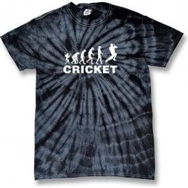 Cricket Evolution Bowler Kid's Tie Dye T-Shirt