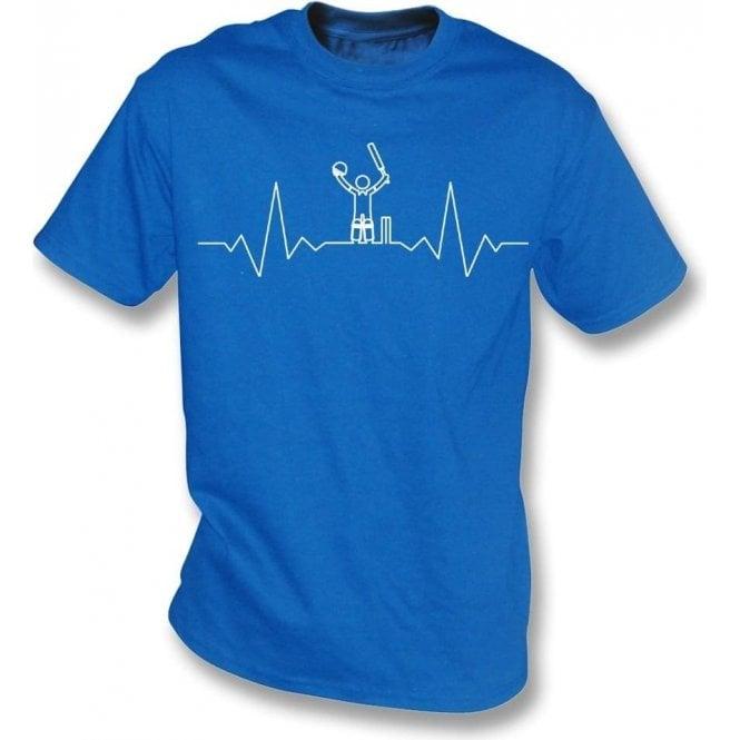 Cricket Heartbeat - Batsman Kids T-Shirt