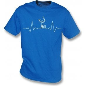 Cricket Heartbeat - Batsman Kids T-Shirt