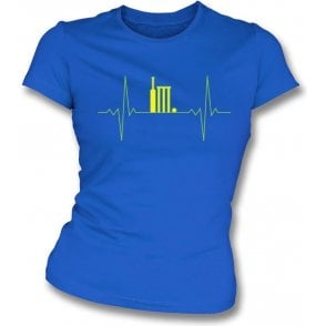 Cricket Heartbeat Womens Slim Fit T-Shirt