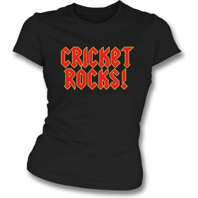 Cricket Rocks Womens Slim Fit T-Shirt