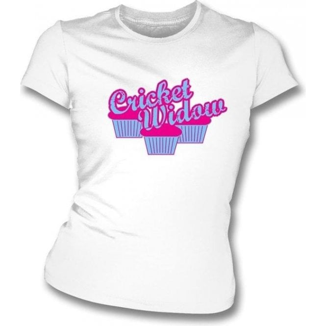 Cricket Widow Cupcakes Womens Slim Fit T-Shirt
