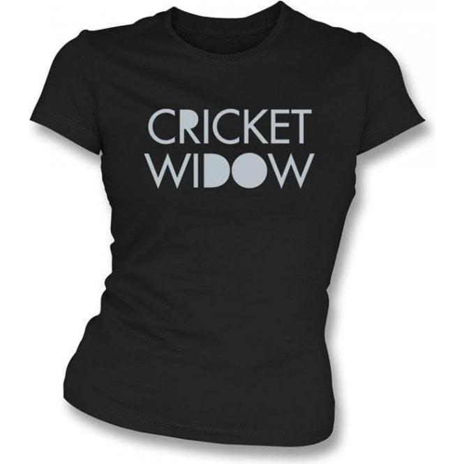 Cricket Widow Womens Slim Fit T-Shirt