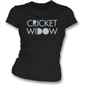 Cricket Widow Womens Slim Fit T-Shirt
