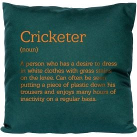 Cricketer Definition Cushion
