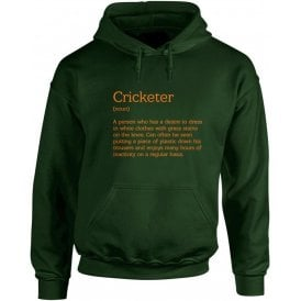Cricketer Definition Hooded Sweatshirt