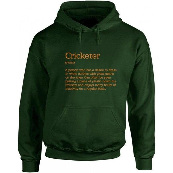 Cricketer Definition Kids Hooded Sweatshirt