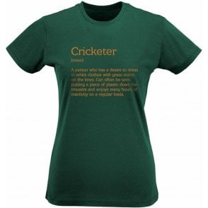 Cricketer Definition Womens Slim Fit T-Shirt