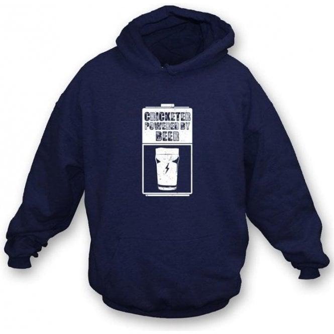 Cricketer Powered By Beer Hooded Sweatshirt