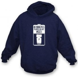 Cricketer Powered By Beer Hooded Sweatshirt