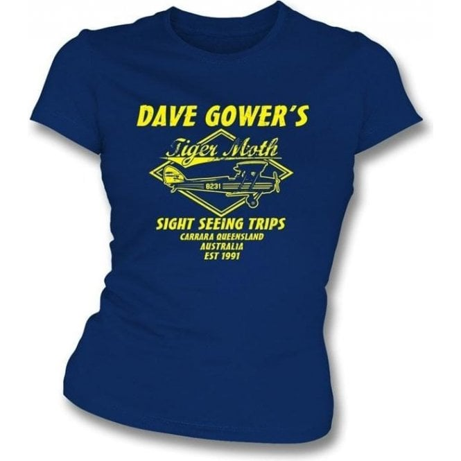 Dave Gowers Tiger Moth Sight Seeing Trips Ladies Slimfit T-shirt