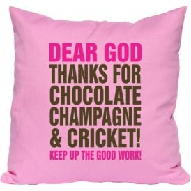 Dear God Chocolate Cushion