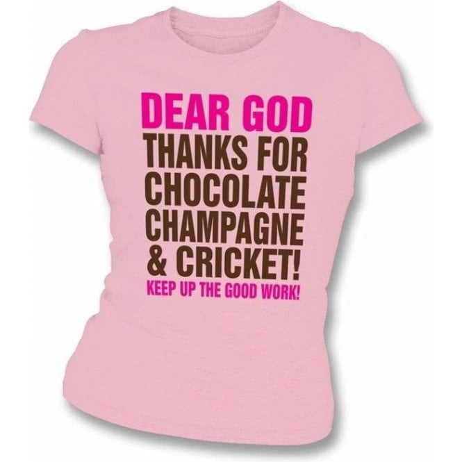 Dear God Chocolate Ladies Slimfit T-shirt
