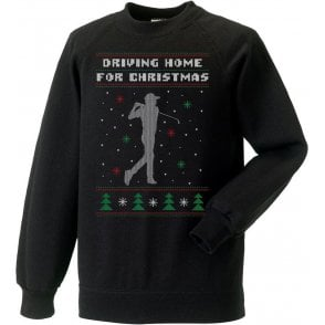 Driving Home For Christmas (Golf) Kids Sweatshirt