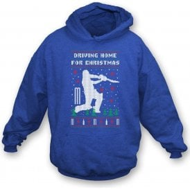 Driving Home For Christmas Kids Hooded Sweatshirt
